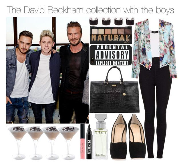 """""""The David Beckham collection with the boys"""" by give-me-love-xox ❤ liked on Polyvore featuring Topshop, Giuseppe Zanotti, Paper Dolls, Maison Margiela, Brahmin, Bobbi Brown Cosmetics, Calvin Klein, Ardency Inn, women's clothing and women's fashion"""