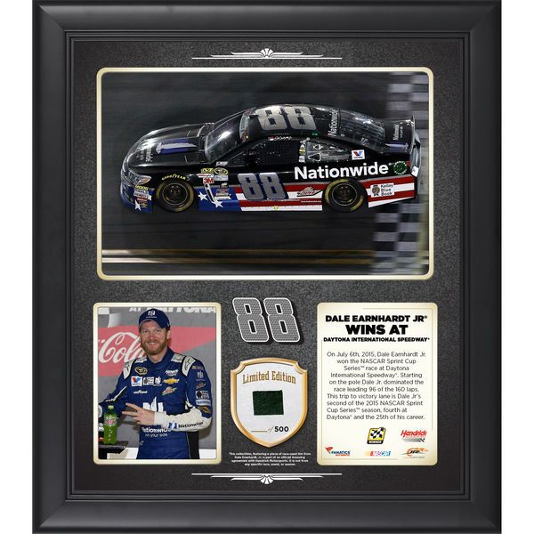 Dale Earnhardt Jr. Fanatics Authentic 2015 Coke Zero 400 at Daytona International Speedway Race Winner Framed 15'' x 17'' Collage With Piece of Race-Used Tire - Limited Edition of 500 - $79.99