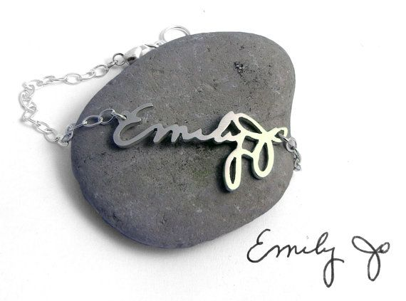 Special Handwriting Bracelet Petite by BrittanyLeighJewelry, $200.00