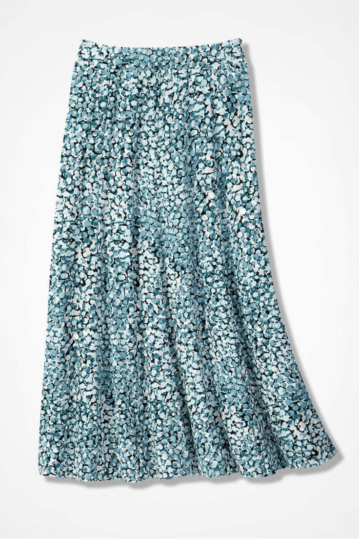 Destinations by Coldwater Creek® Bubble Print Gored Skirt - Coldwater Creek $79.95