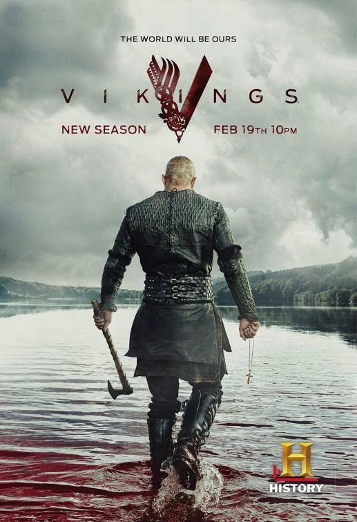 Vikings, saison 3 - Le poster avec Ragnar Lothbrok