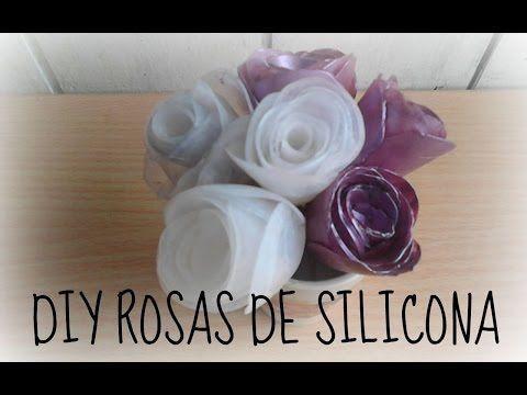 Rosas hechas con silicona caliente lo vemos tecnicas - Manualidades con silicona ...