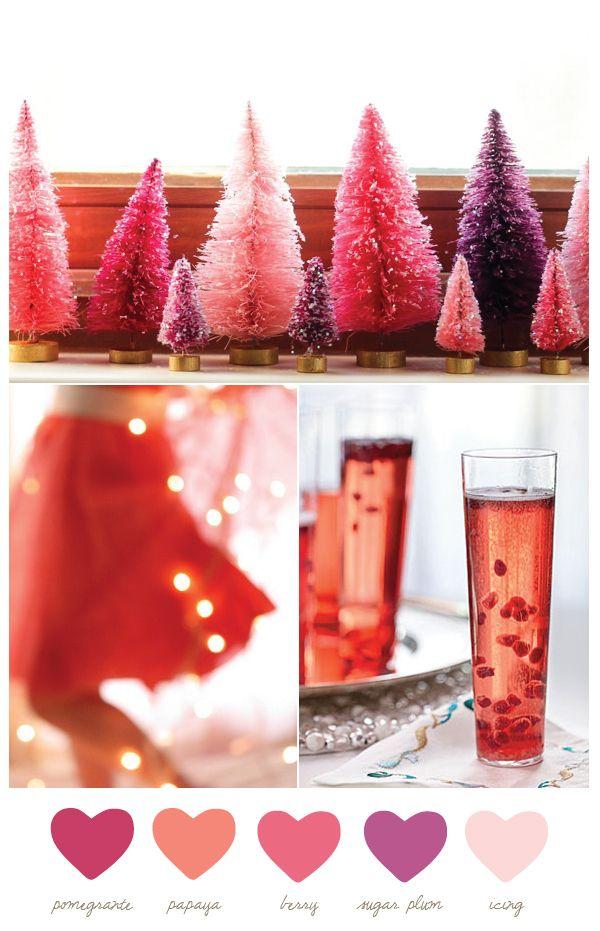 A very berry Christmas palette