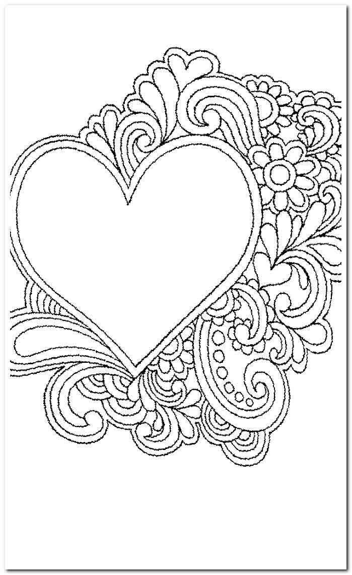 18+ Coloring Pages  adulting coloring pages  Heart coloring