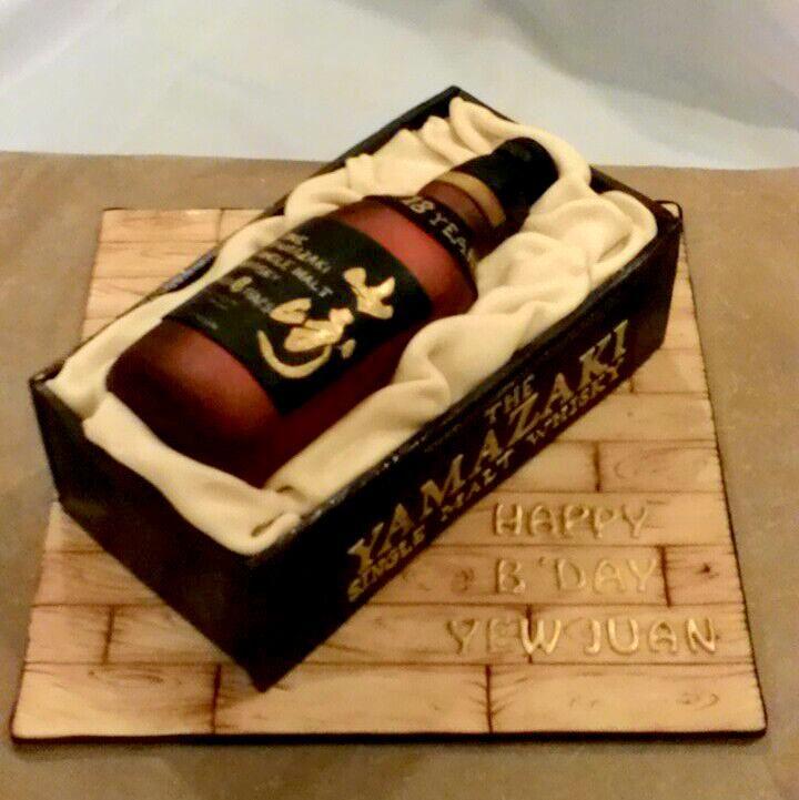 Yamazaki Whiskey Bottle Cake
