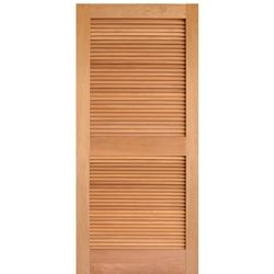 Aaw Inc Mahogany Louver Single Louver Doors Mahogany