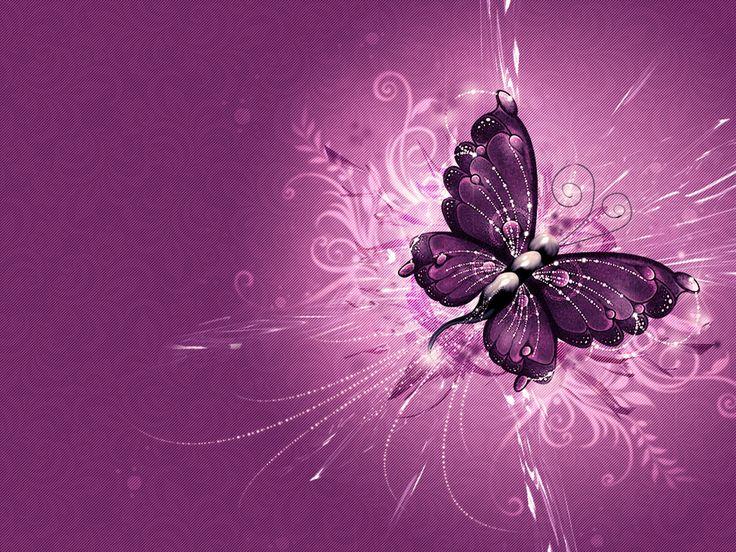 Purple Butterfly Wallpaper Pink And Butterflies