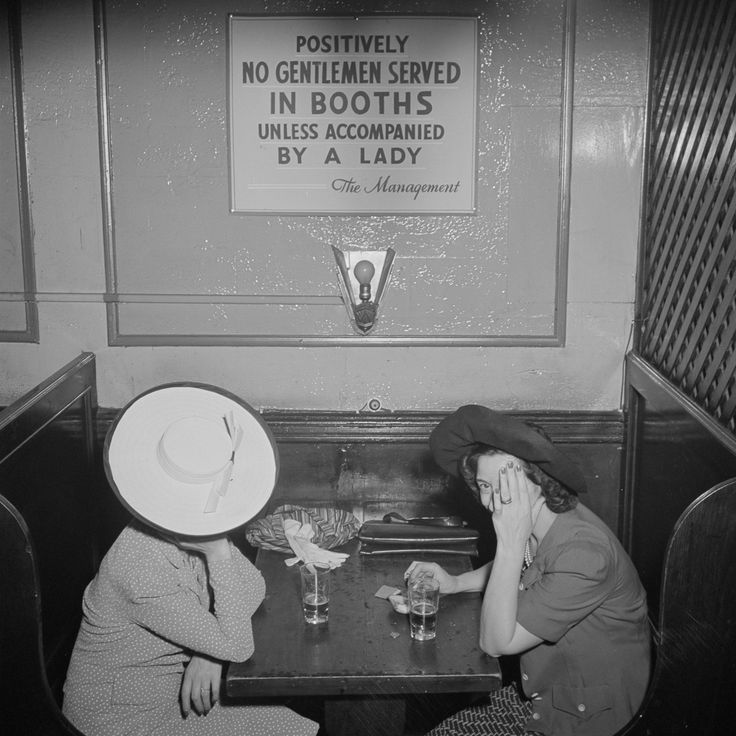 """""""Positively no gentlemen served in booths unless accompanied by a lady"""" --The Management"""