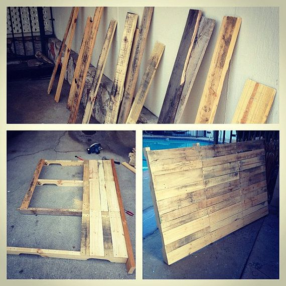 Reclaimed wood pallet headboards other reclaimed for Arts and crafts headboard