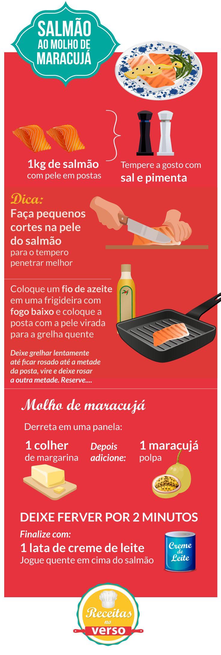 SALMÃO AO MOLHO DE MARACUJÁ