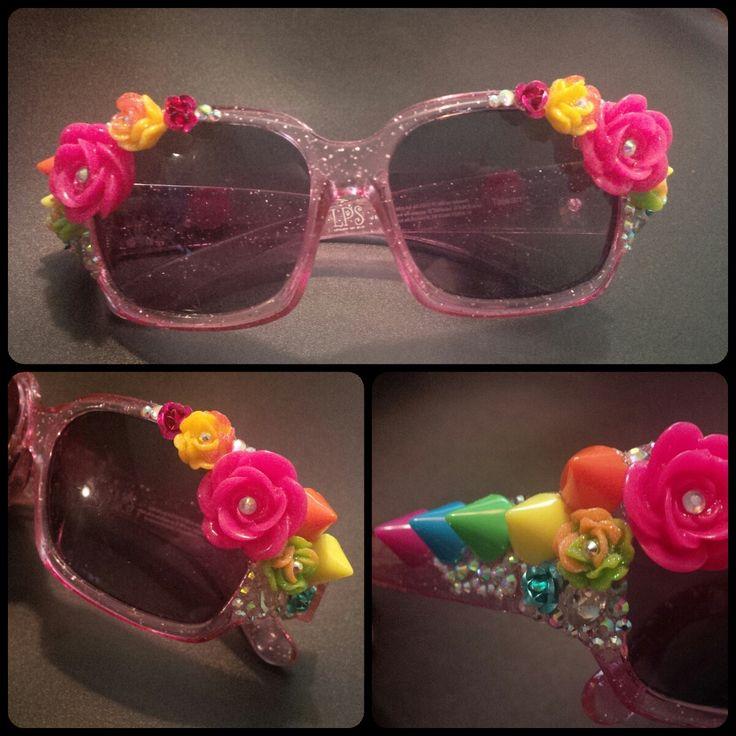 Rainbow embellished sunglasses