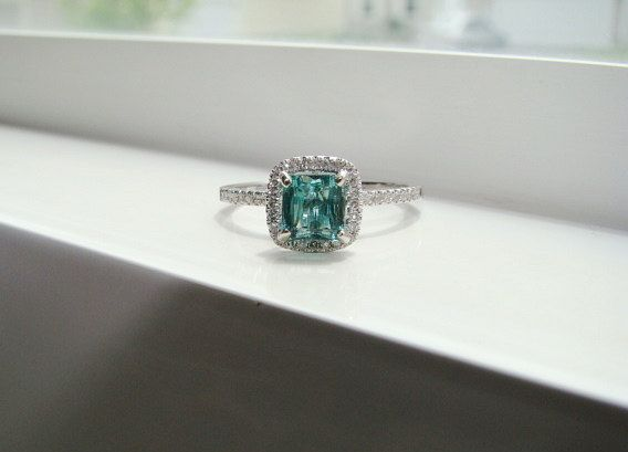 17 Best ideas about Teal Engagement Ring on Pinterest