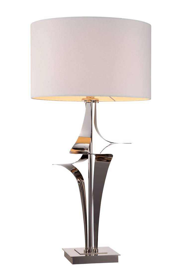 The Gian nickel table lamp by RV Astley boasts a frame finish in nickel, with a cream light shade. Part of the Gian range, this beautiful floor lamp is the perfect compliment to a minimalist living room.