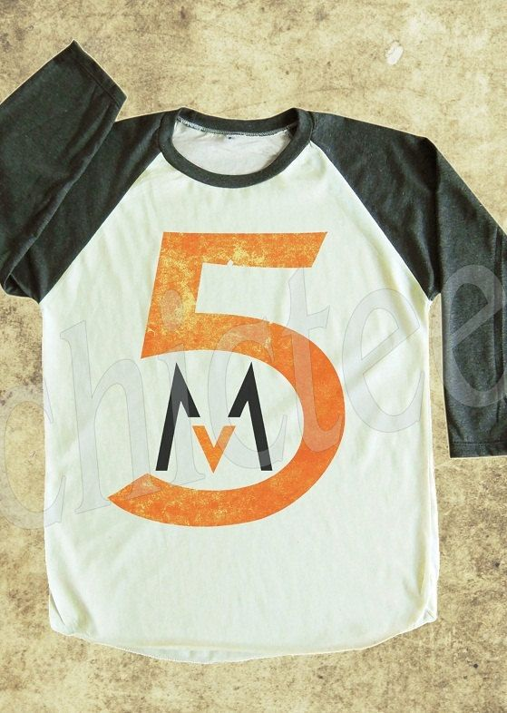Maroon 5 tshirt pop rock shirt women t shirt unisex t by chictee, $18.00