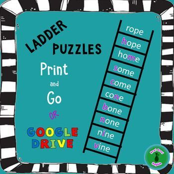 These are fun word guessing puzzle games to help with vocabulary and spelling skills, and it is also a great activity for ESL students. This would be good for a warm up or for early finishers, or even as a team race game. Students give answers to clues and definitions, changing one letter