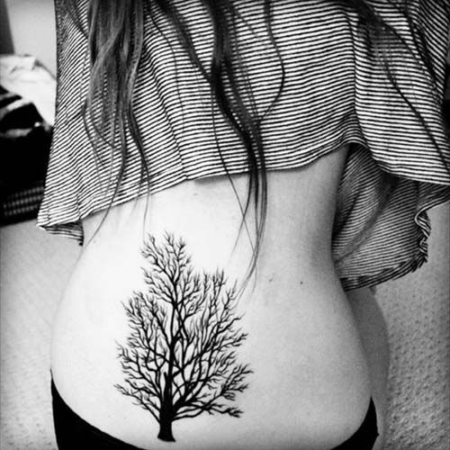 kadın bel ağaç dövmeleri woman belly tree tattoos