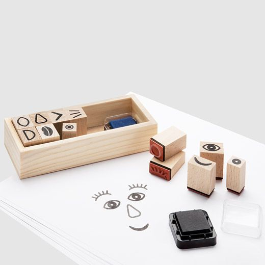 Muji Funny Face Stamp Set, $20. Guaranteed to help your kid make the most bizarre art possible. Get it here.