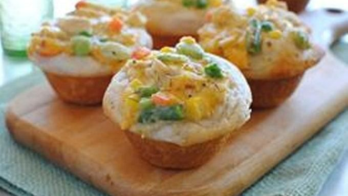Chicken Pot Pie Cupcakes   Recipe   Pot Pies, Chicken Pot Pies and Pot ...
