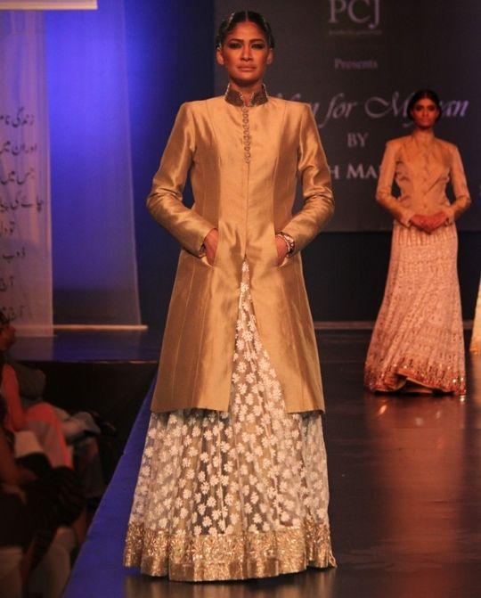 Gold jacket chikankari lengha online shopping India | Manish Malhotra | Sweet Couch