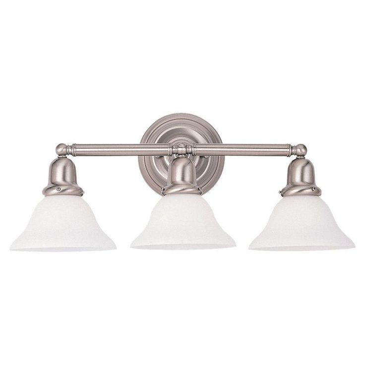 Bathroom Vanity 3 Light Fixture Brushed Nickel Bell Wall Lighting Allen Roth: 1000+ Ideas About Bathroom Vanity Lighting On Pinterest