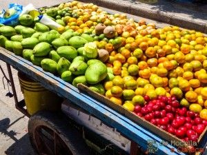 Frutas frescas em Cartagena de Indias.