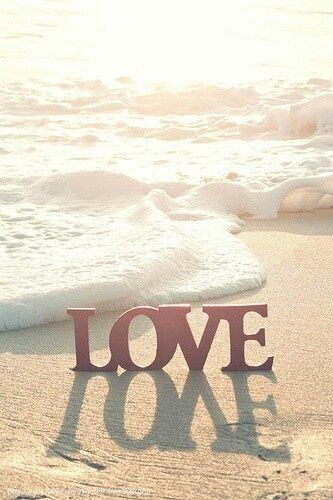 Love love sunset beach ocean waves
