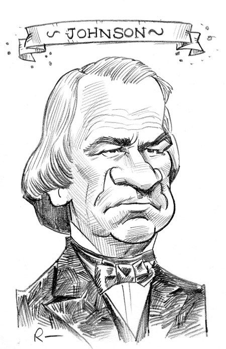 presidential caricatures 17 andrew johnson