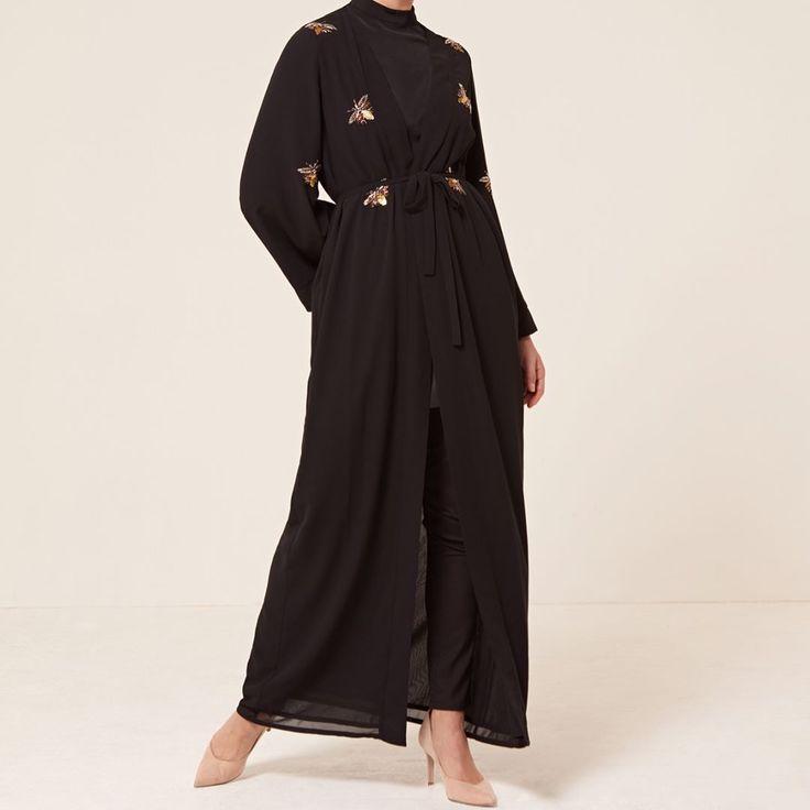 INAYAH   Eid '17 - Coming soon! Ivory Beaded Wrap Kimono Black Beaded Wrap Kimono www.inayah.co