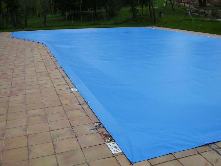 Tendal de PVC per a cobrir piscina
