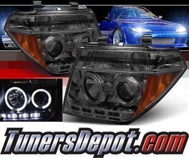 Sonar® LED Halo Projector Headlights (Smoke) - 05-08 Nissan Frontier