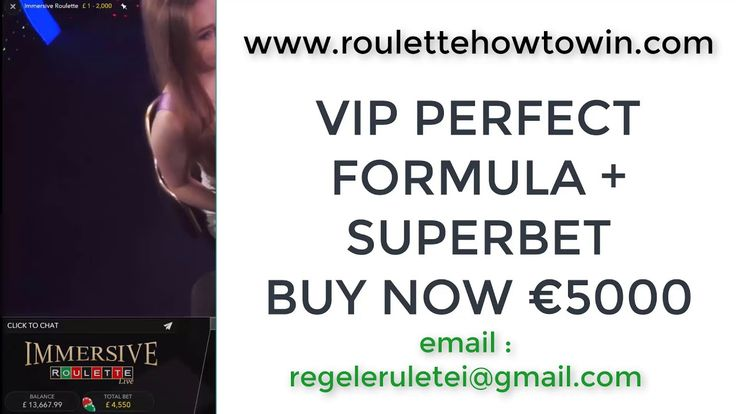 VIP Perfect Formula and SUPER BET at Immersive Roulette LIVE £26000