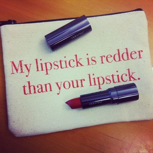 Haha, I've literally been asked to decide who's lipstick was redder once.