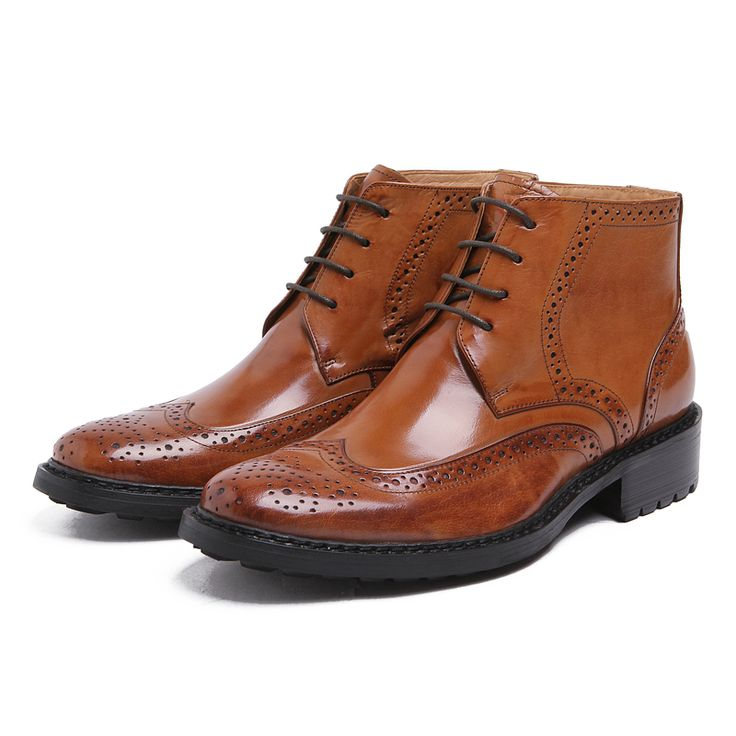 Large size EUR45 oxfords shoes mens ankle boots genuine leather business shoes mens dress boots