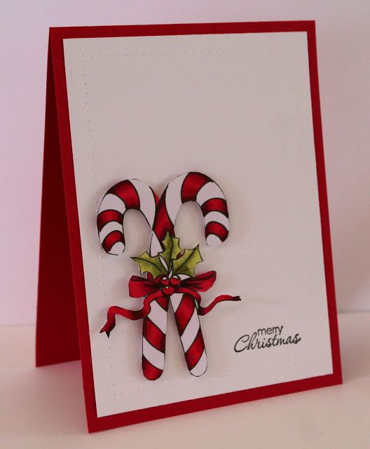 82 best CARDS-Christmas-Candy Canes images on Pinterest | Xmas ...