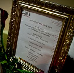 Our vegan wedding menu from Gail's Vegetarian Catering in Maryland