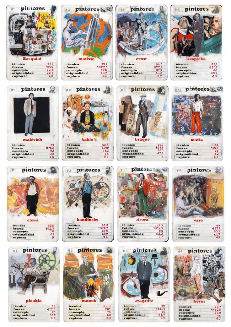 Pintores, juego de naipes, de Lucas Moltrasio - http://idea.me/proyectos/29087/pintores-juego-de-naipes
