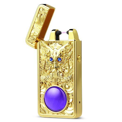 Pokin® elettronica Plasma antivento senza fiamma, Pulse Arc accendisigari Accendino USB ricaricabile a forma di drago cinese EURO 36,17