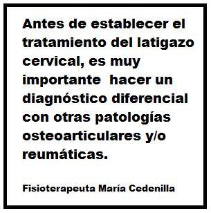 Latigazo cervical, Fisio Maria Cedenilla