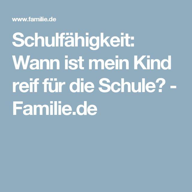 Schulfähigkeit: Wann ist mein Kind reif für die Schule? - Familie.de