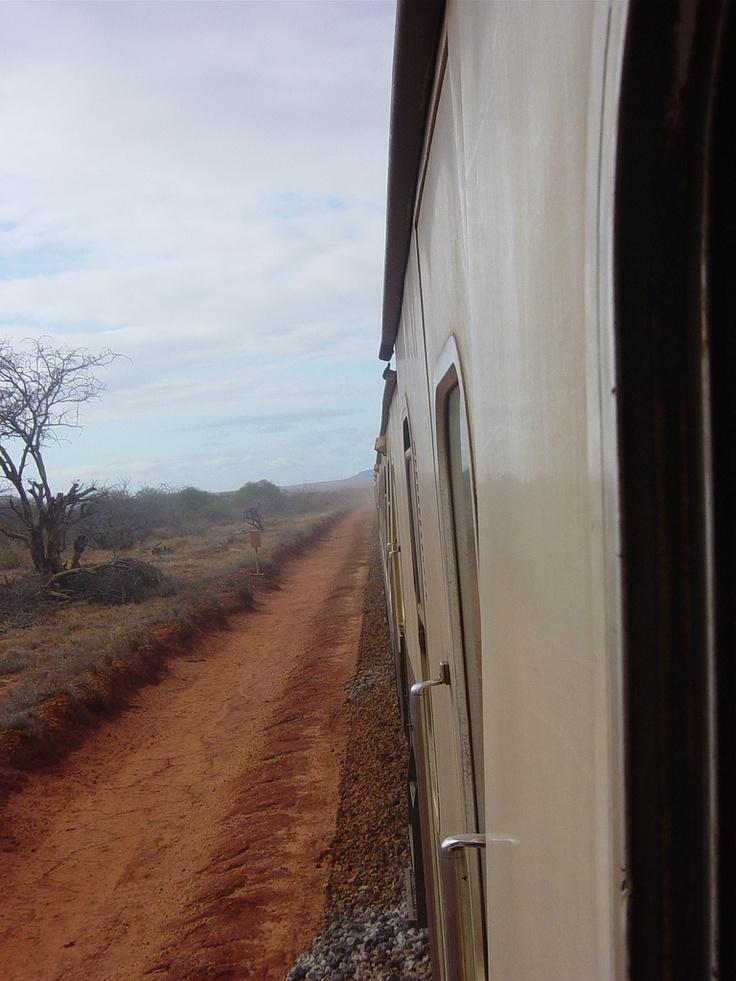 Nairobi to Mombasa; took this train on our honeymoon!