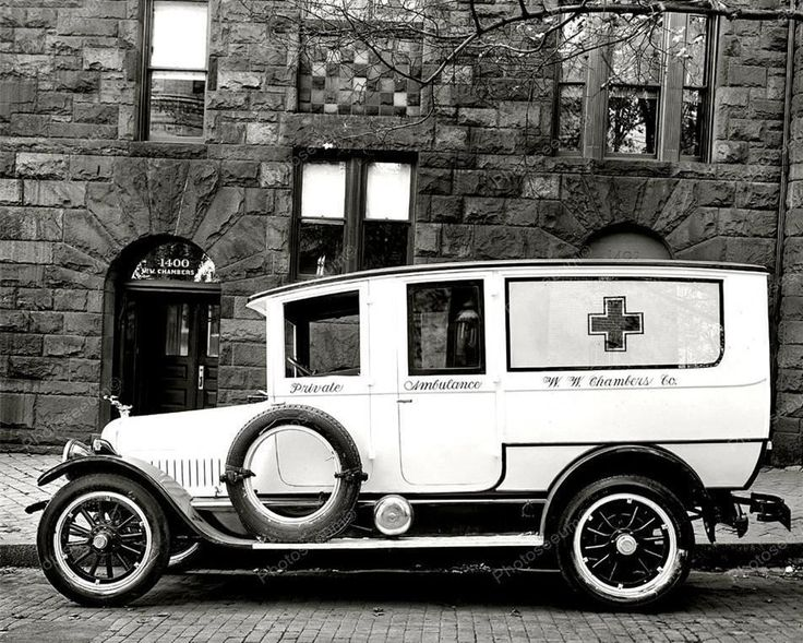 Private Ambulance Vintage 8x10 Reprint Of Old Photo