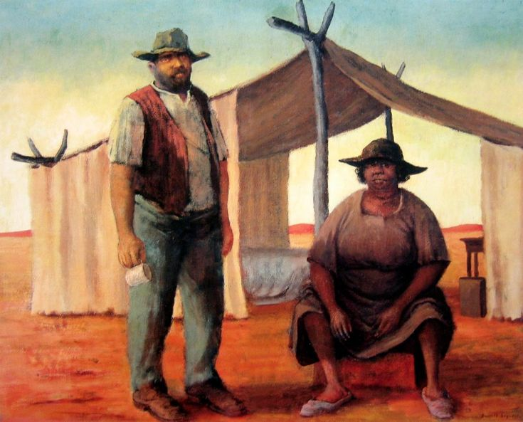 Tom and Lilah George Russell Drysdale (1912-81) Australia
