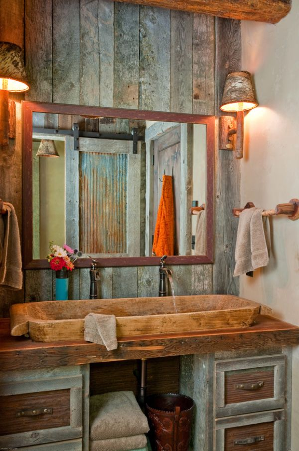 Rustic-Barn-Bathrooms-04-1-Kindesign.jpg (600×904) A bit too rustic, but like the uniqueness and simplicity