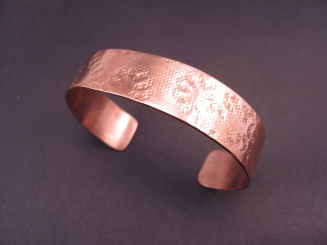 Copper cuff crafted by Shane Kendrick