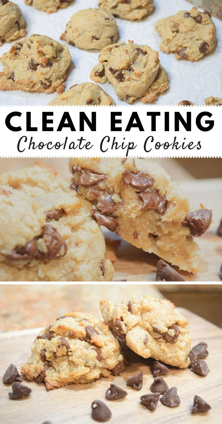 Clean Eating Chocolate Chip Cookies |Fit and Well|