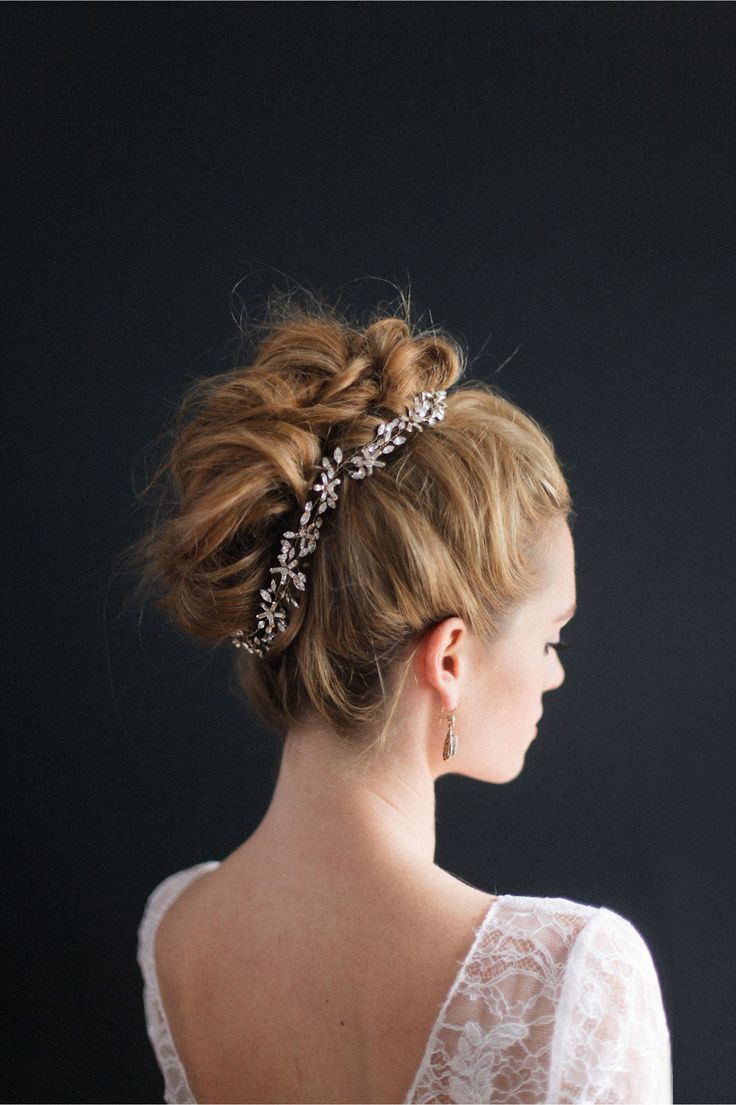 Wedding hair accessories christchurch -  Un Classic French Twist Wedding Hair