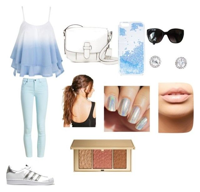 """""""blue and white"""" by cocoblair25 on Polyvore featuring Barbour, adidas Originals, MICHAEL Michael Kors, Skinnydip, Boohoo, Chanel, MDMflow and Estée Lauder"""