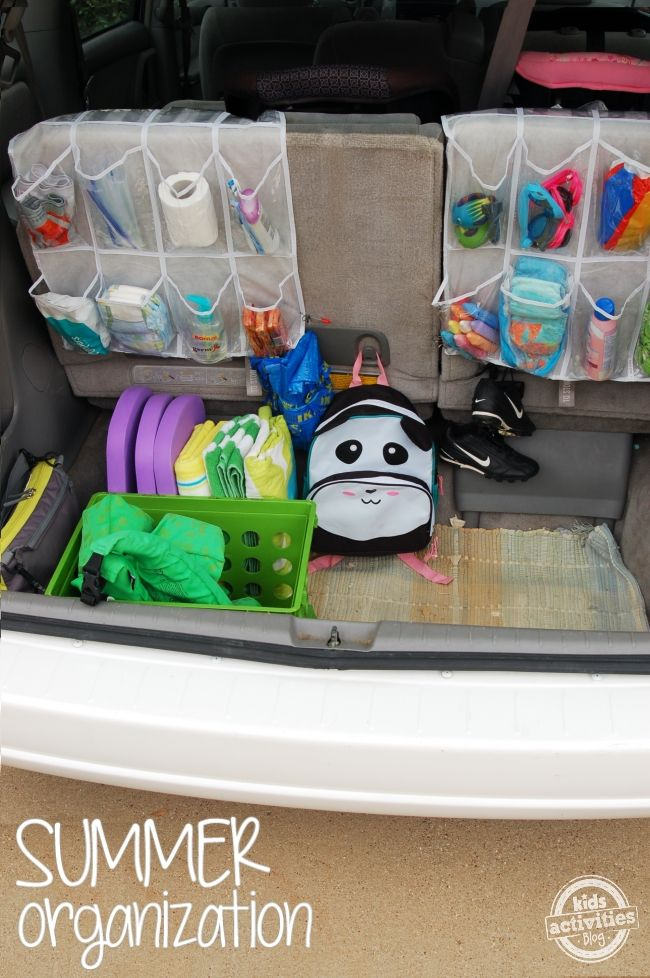 BRILLIANT idea to organize a family car - no more chaotic bags everywhere!