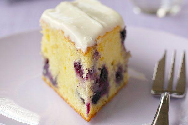 Lemon blueberry slice