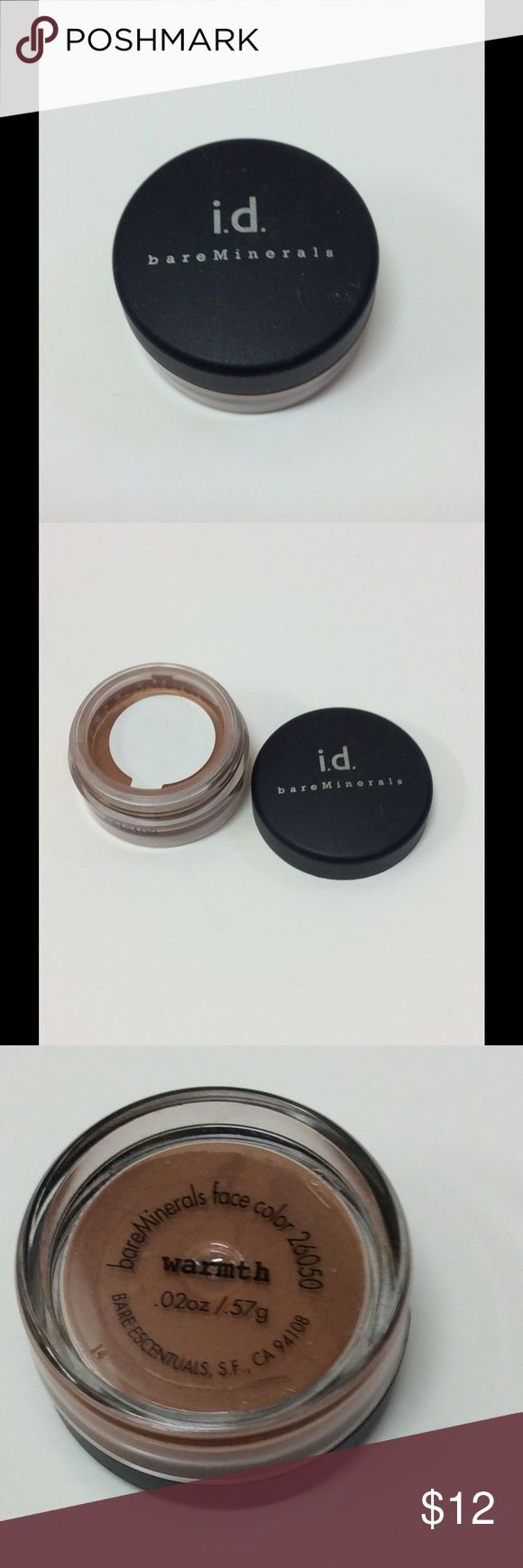 "Eye/cheek powder NWOT ""Warmth"" is used as either an eye shadow or dark blush. id Bare Minerals Makeup Blush"